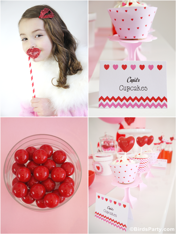 valentine u0026 39 s day hearts party printables supplies
