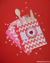 Valentine's Day Pink & Red Hearts Party Printables Supplies & Decorations Kit with Invitations | BirdsParty.com