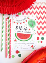 Watermelon Party Printable Invitations | BirdsParty.com