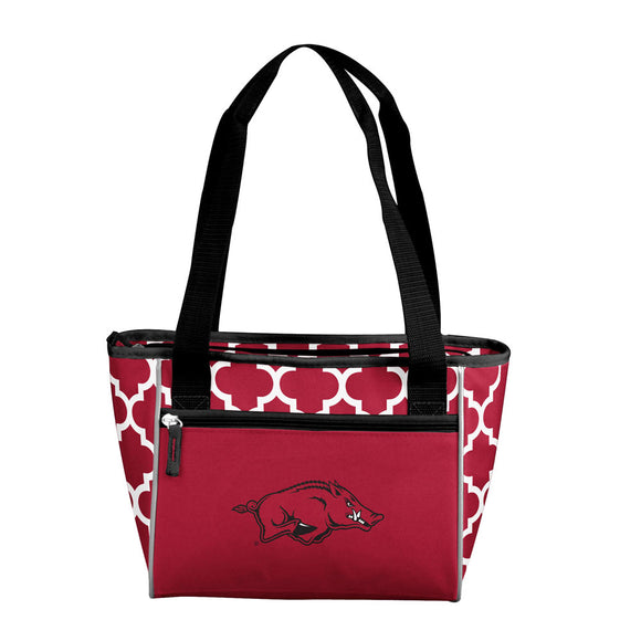 Arkansas Quatrefoil 16 Can Cooler Tote