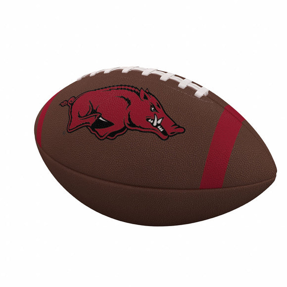 Arkansas Team Stripe Official-Size Composite Football