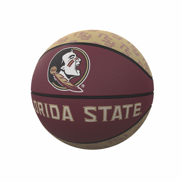 FL State Repeating Logo Mini-Size Rubber Basketball