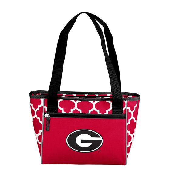 Georgia Quatrefoil 16 Can Cooler Tote