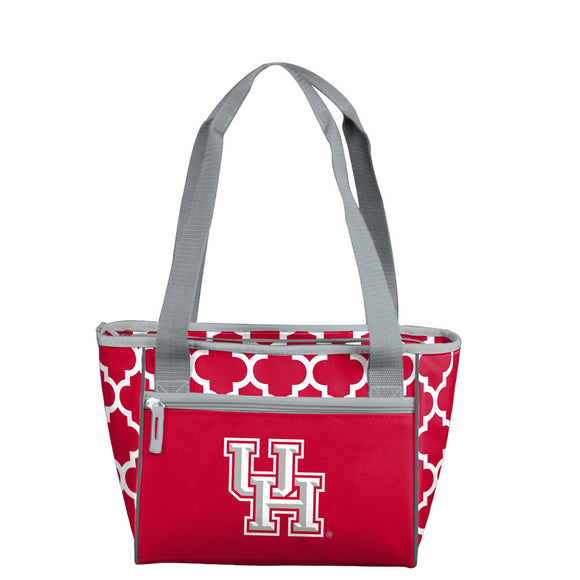 Houston Quatrefoil 16 Can Cooler Tote