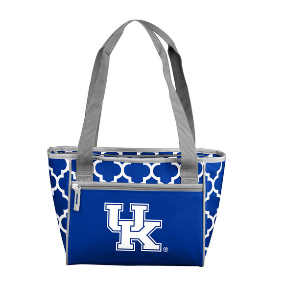 Kentucky Quatrefoil 16 Can Cooler Tote