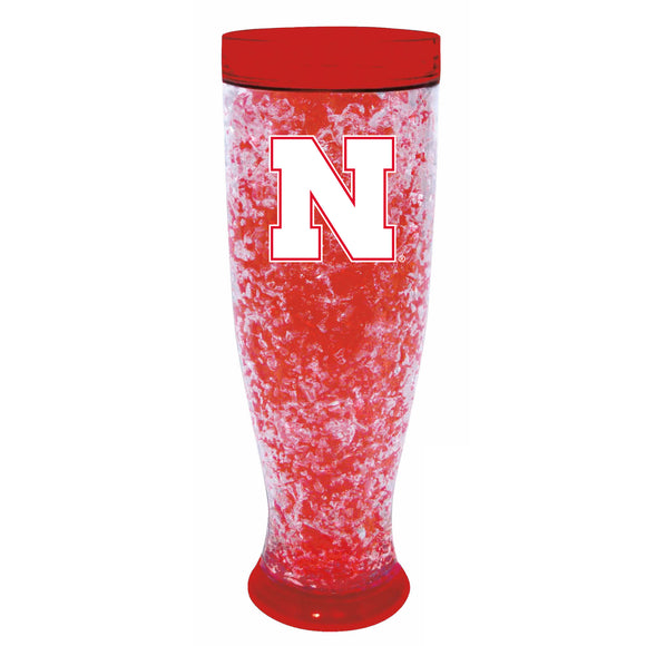 Nebraska Cornhuskers Crystal Freezer Pilsner - Full Color