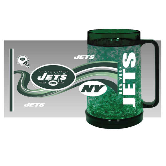 New York Jets Crystal Freezer Mug - Full Color