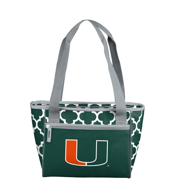 Miami Quatrefoil 16 Can Cooler Tote