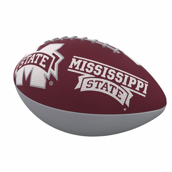 Mississippi State Combo Logo Junior-Size Rubber Football