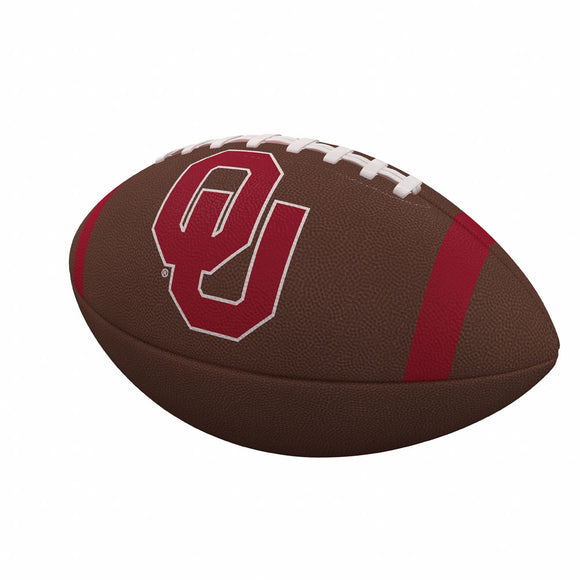 Oklahoma Team Stripe Official-Size Composite Football