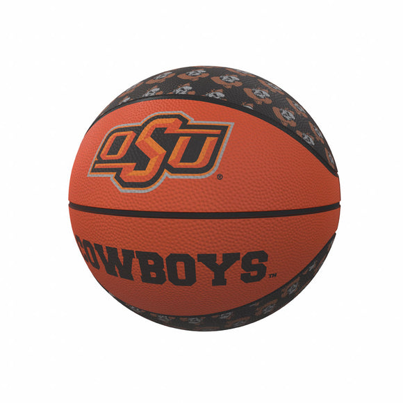 OK State Repeating Logo Mini-Size Rubber Basketball