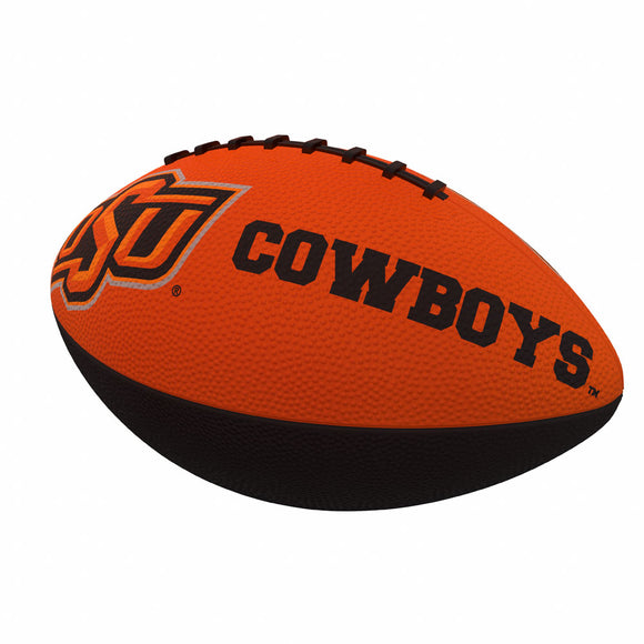 OK State Combo Logo Junior-Size Rubber Football
