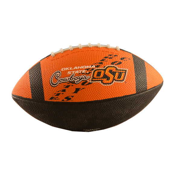 OK State Junior-Size Rubber Football