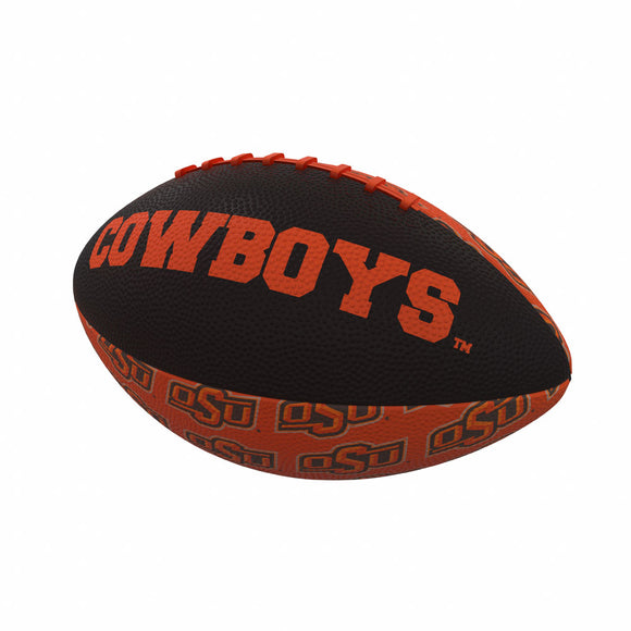 OK State Repeating Mini-Size Rubber Football