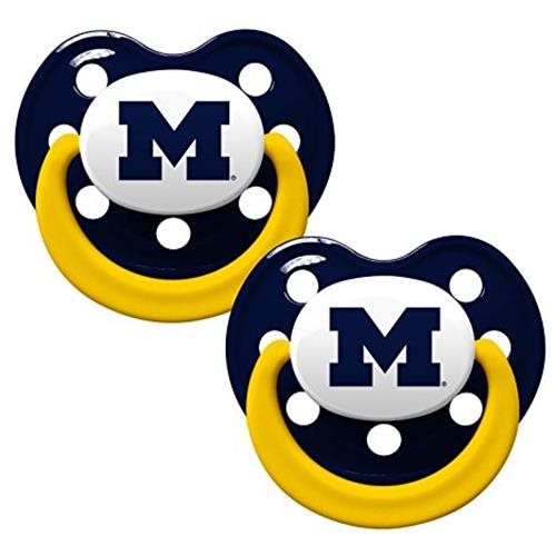 Michigan Wolverines Pacifier 2 Pk New UPC