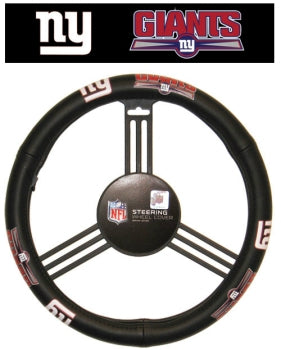 New York Giants Steering Wheel Cover - Leather