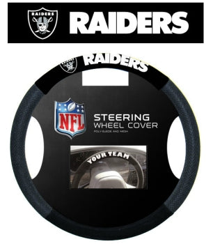 Oakland Raiders Steering Wheel Cover - Mesh