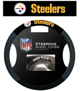 Pittsburgh Steelers Steering Wheel Cover - Mesh