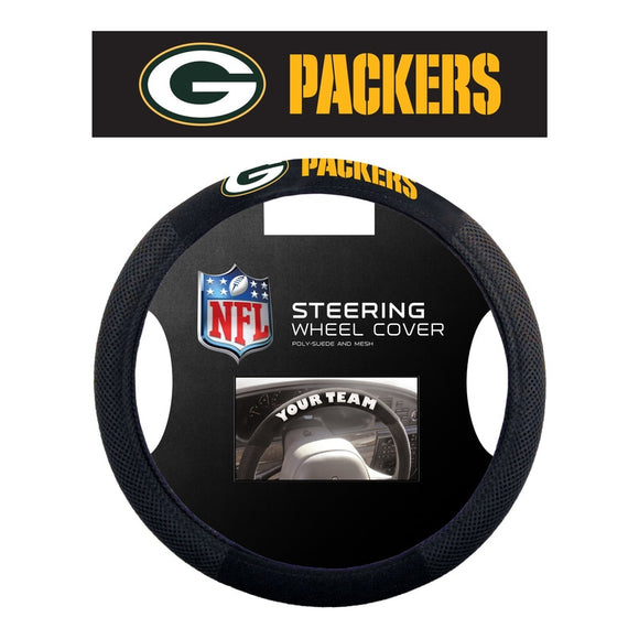 Green Bay Packers Steering Wheel Cover - Mesh