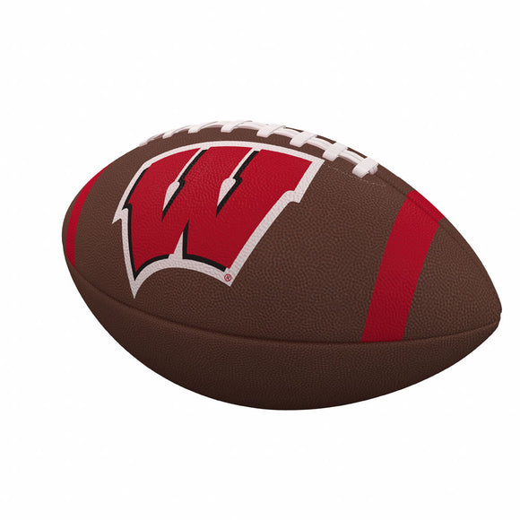 Wisconsin Team Stripe Official-Size Composite Football