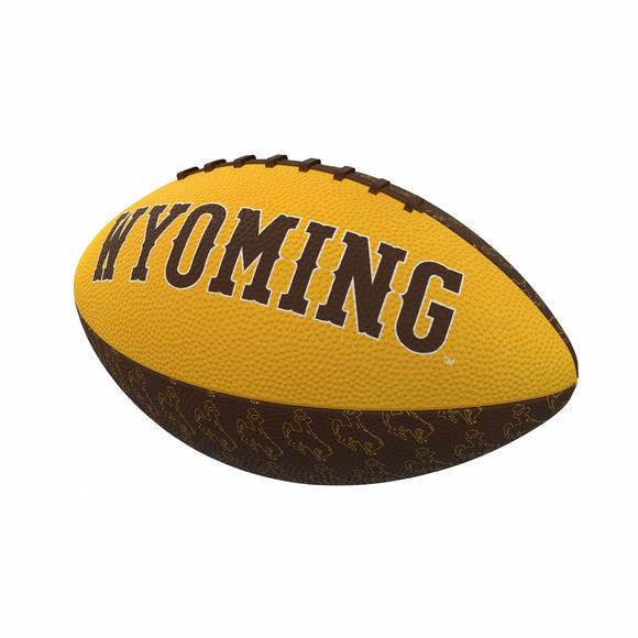 Wyoming Repeating Mini-Size Rubber Football