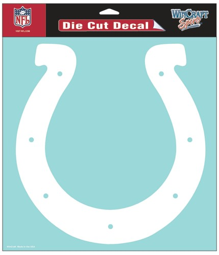 Indianapolis Colts Decal 8x8 Die Cut White