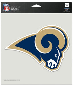 Los Angeles Rams Die-Cut Decal - 8x8 Color