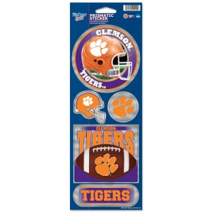 Clemson Tigers Stickers Prismatic