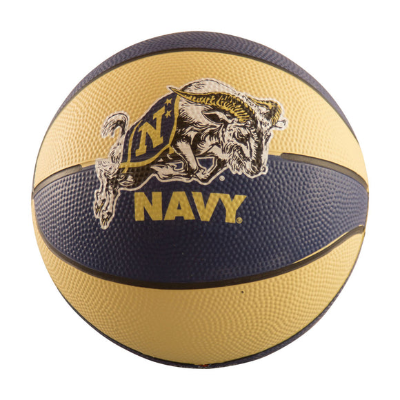 Navy Mini-Size Rubber Basketball