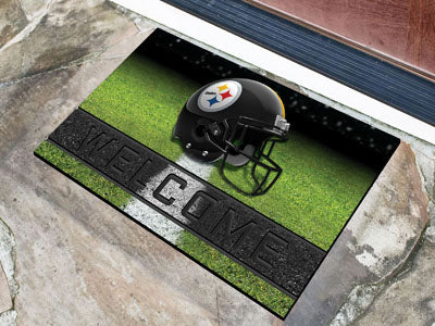 Pittsburgh Steelers Door Mat 18x30 Welcome Crumb Rubber