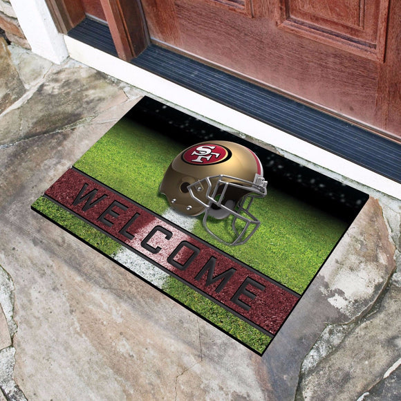 San Francisco 49ers Door Mat 18x30 Welcome Crumb Rubber