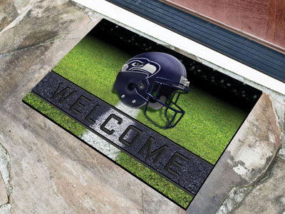 Seattle Seahawks Door Mat 18x30 Welcome Crumb Rubber