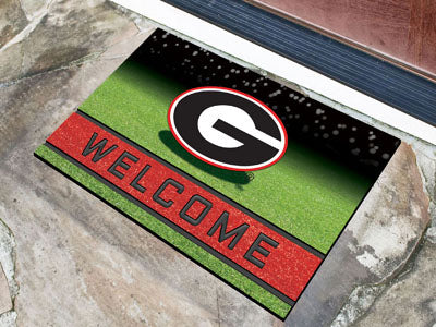 Georgia Bulldogs Door Mat 18x30 Welcome Crumb Rubber