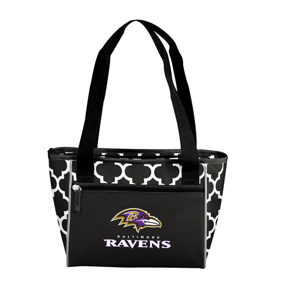 Baltimore Ravens Quatrefoil 16 Can Cooler Tote