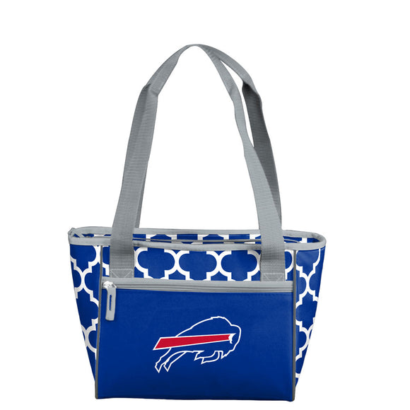 Buffalo Bills Quatrefoil 16 Can Cooler Tote