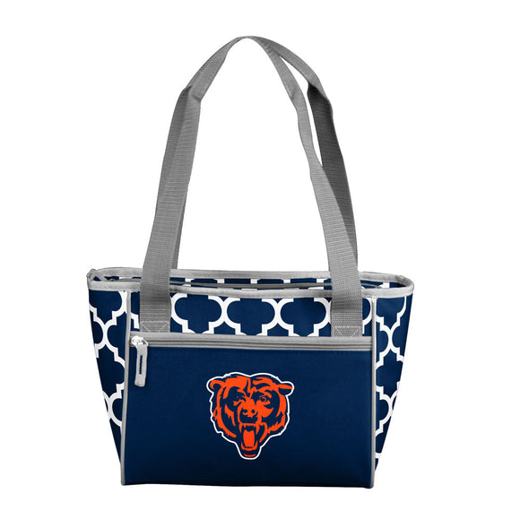 Chicago Bears Quatrefoil 16 Can Cooler Tote