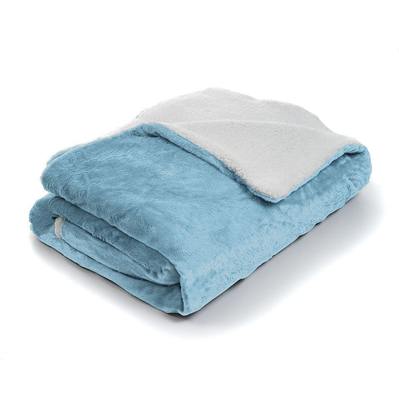 Lavish Home Fleece Blanket with Sherpa Backing - Twin - Algoma Retail