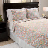 Lavish Home Emilia Reversible 3 Piece Quilt Set with Sherpa - King - Algoma Retail
