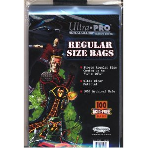 Comic Bags - Regular Size (100 per pack)