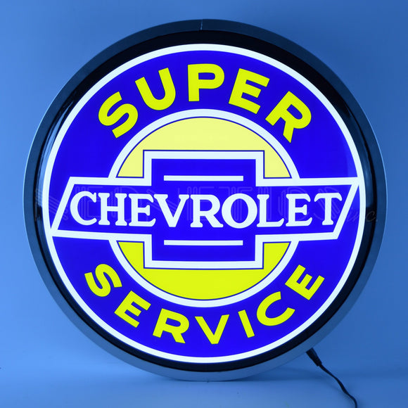 SUPER CHEVROLET SERVICE 15 INCH BACKLIT LED LIGHTED SIGN