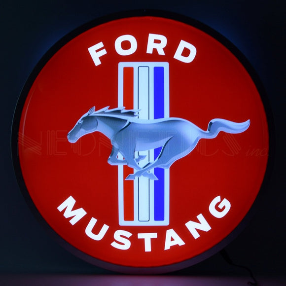 FORD MUSTANG 15 INCH BACKLIT LED LIGHTED SIGN