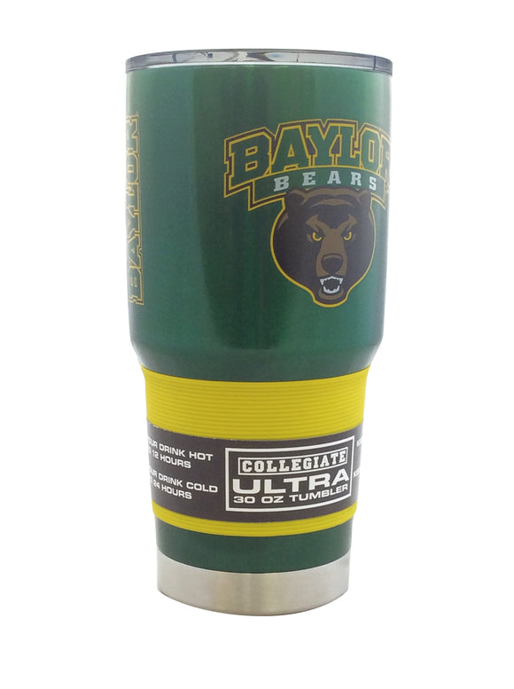 Baylor Bears Travel Tumbler 30 oz Ultra Flared Green