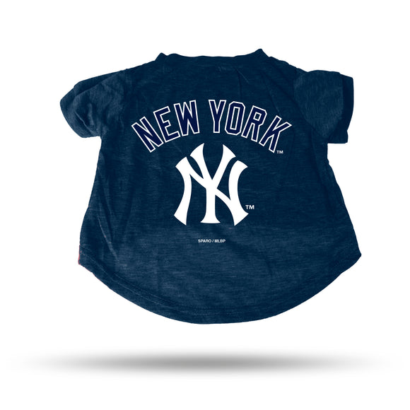 YANKEES NAVY PET T-SHIRT - SMALL