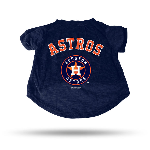 ASTROS NAVY PET T-SHIRT - SMALL