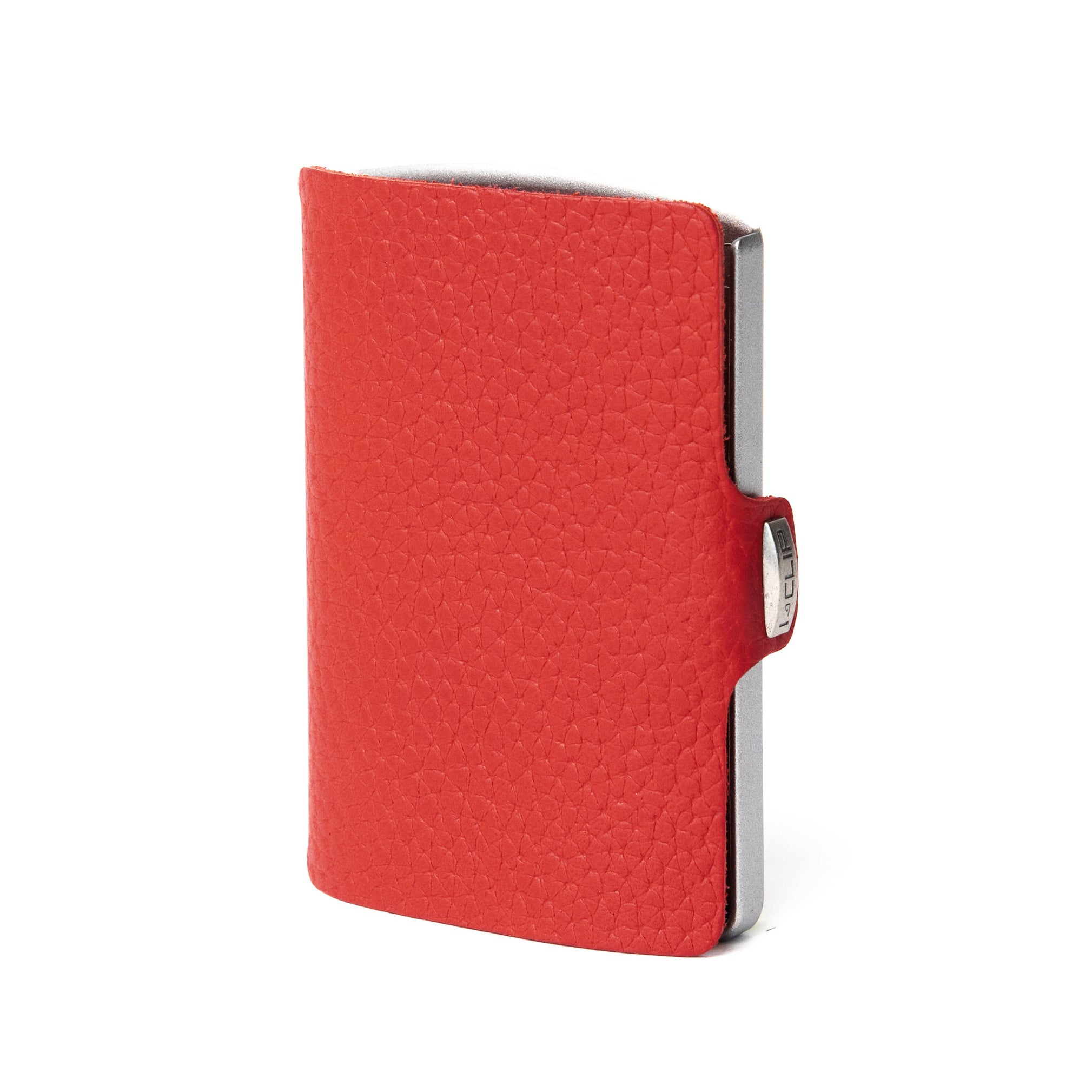 Full Grain Leather - Red / Metallic Gray Frame - I-CLIP