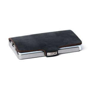 I-CLIP - Soft Touch Leather - Black / Metallic Gray Frame - I-CLIP