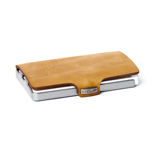 Soft Touch Leather - Caramel / Metallic Gray Frame - I-CLIP