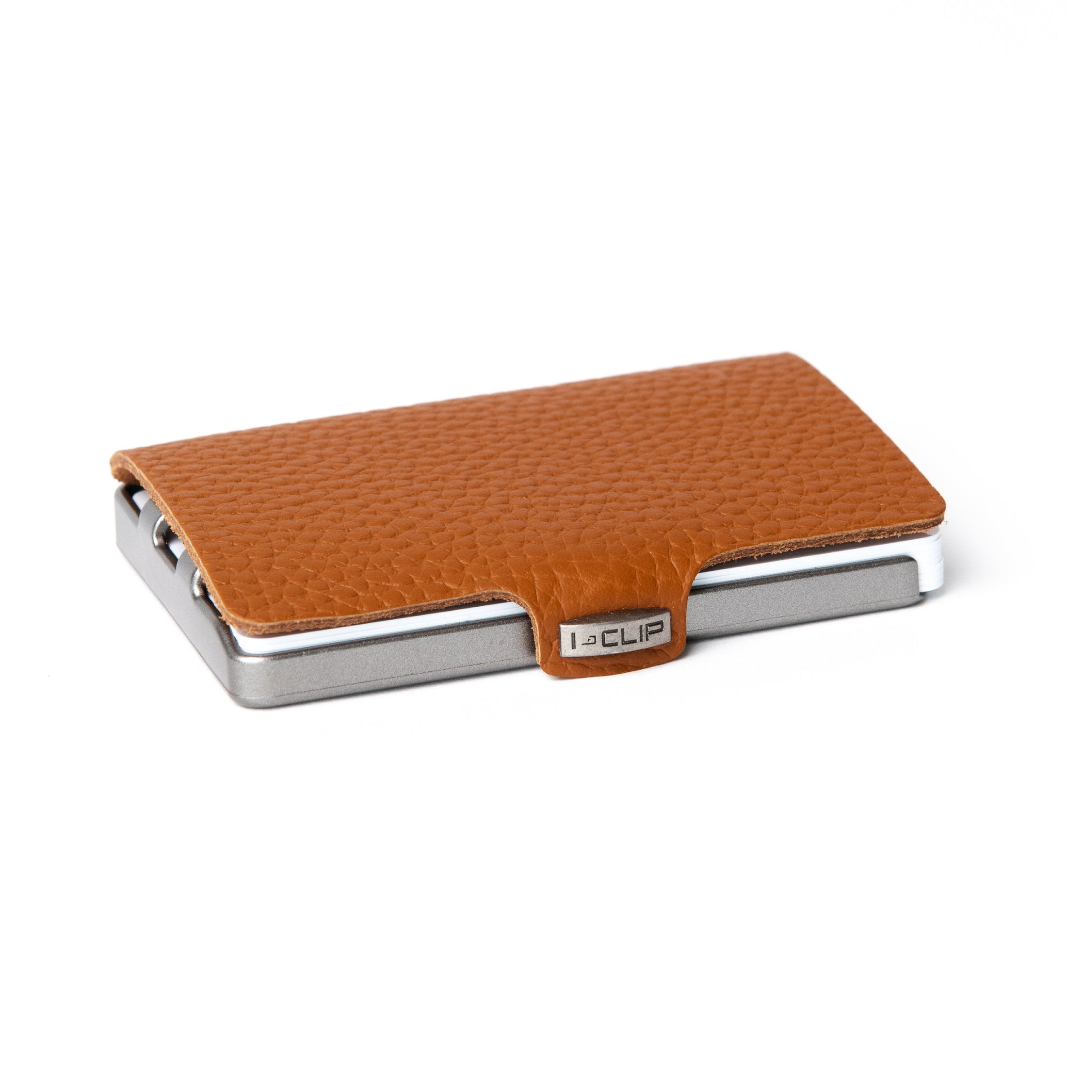 I-CLIP - Full Grain Leather - Nutshell / Metallic Gray Frame - I-CLIP