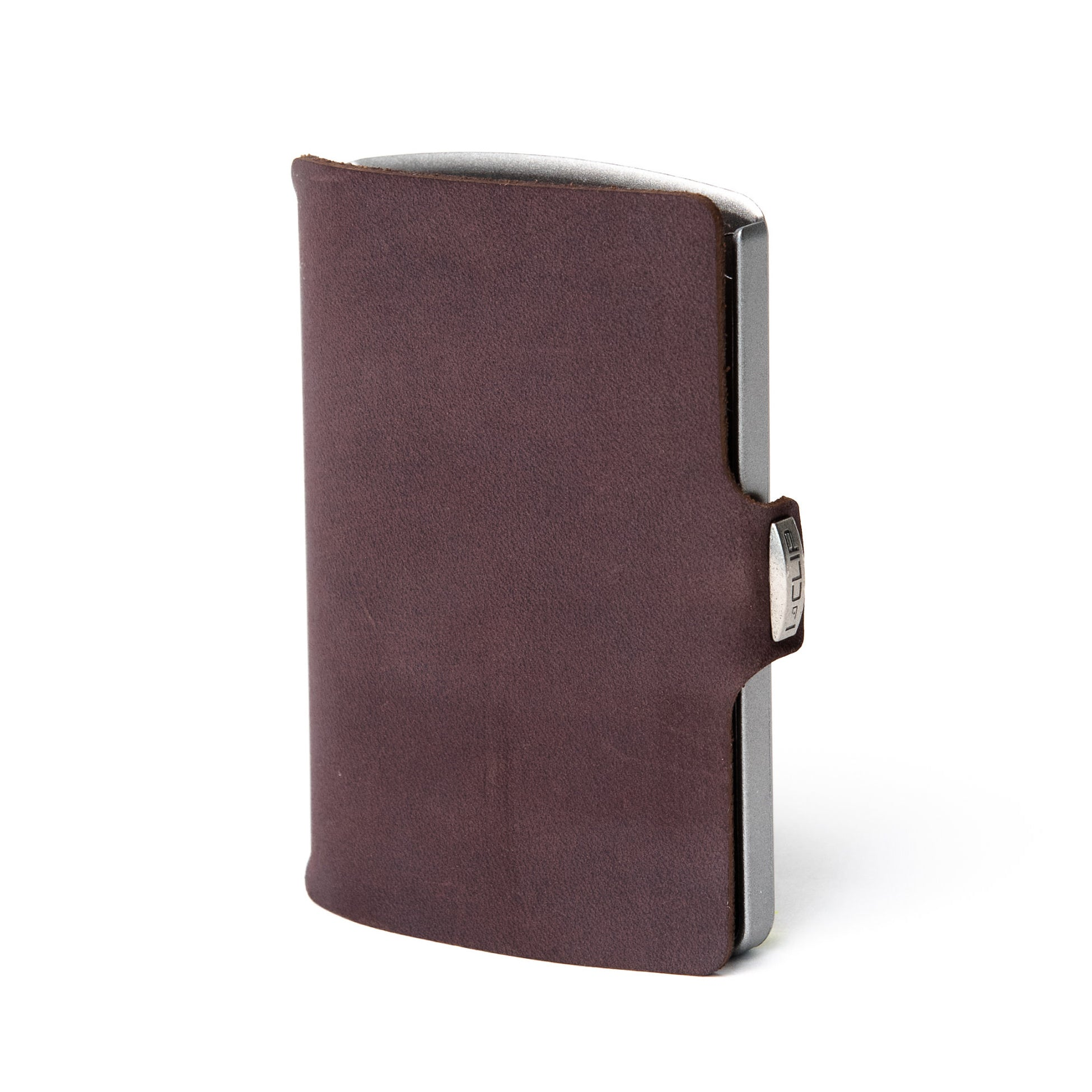 Soft Touch Leather - Brown / Metallic Gray Frame - I-CLIP