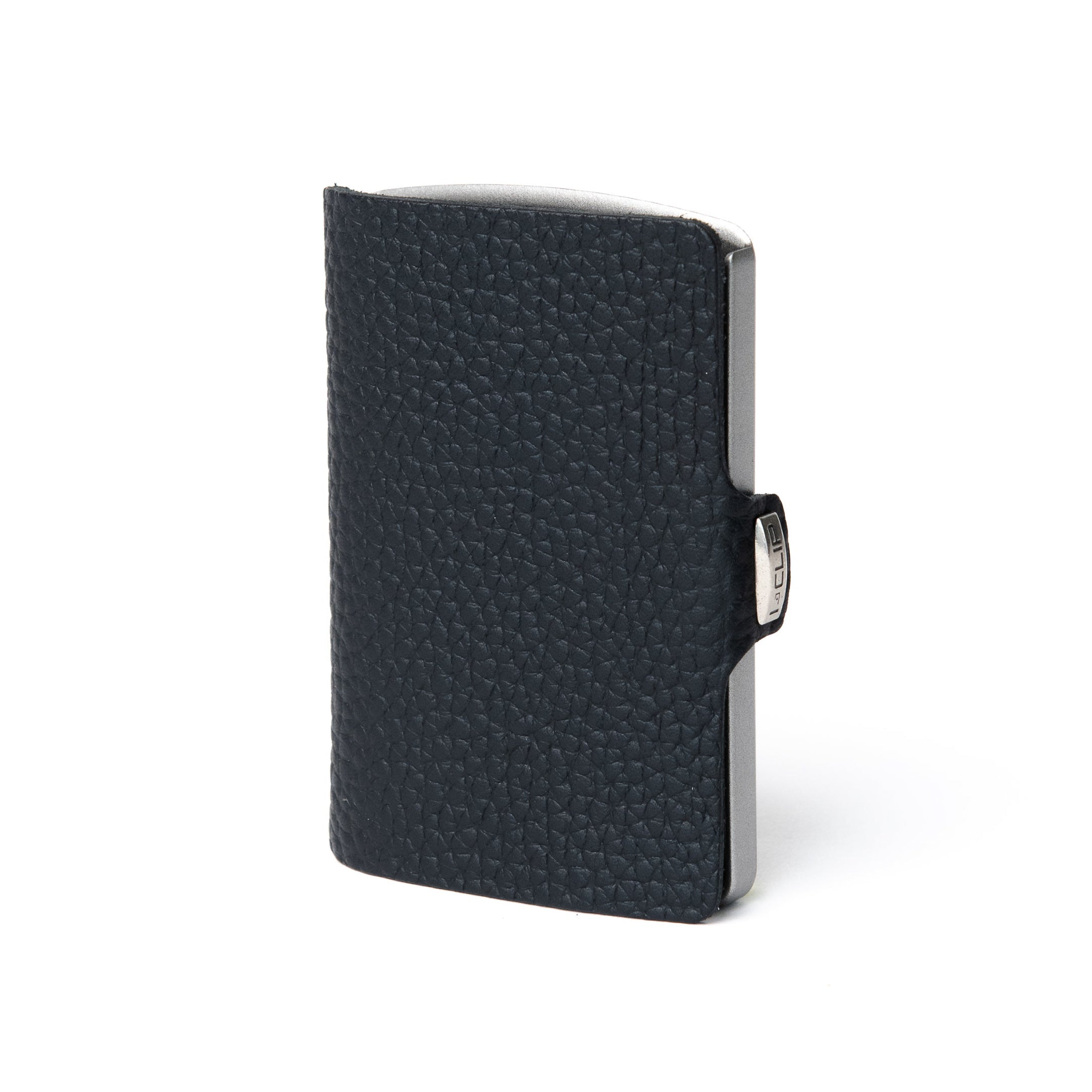 Full Grain Leather -  Black / Metallic Gray Frame - I-CLIP